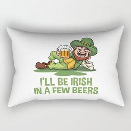 I'll Be Irish In A Few Beers - Chilling Leprechaun Rectangular Pillow
