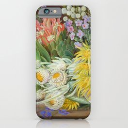 Medley of Wild Summer Mountain Flowers still life painting iPhone Case