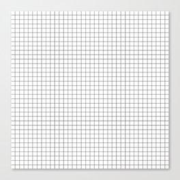 Black and White Thin Grid Graph Canvas Print