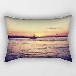 Sunsets and Boats Rectangular Pillow