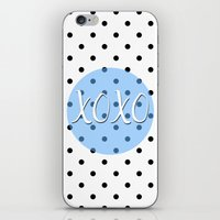 xoxo iPhone & iPod Skins featuring XOXO by Pati Designs