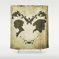 silhouette Shower Curtains featuring silhouette by Camille