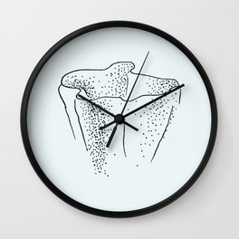Blue Sea Coral Wall Clock