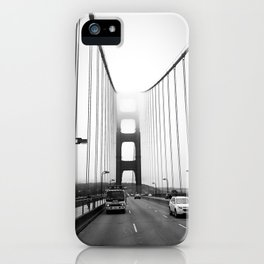 Golden Gate Bridge Black and White iPhone Case