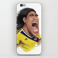 colombia iPhone & iPod Skins featuring Falcao - Colombia by Sant Toscanni