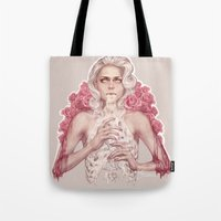 milk Tote Bags featuring Milk by Jasric Art