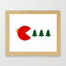 Christmas Tree Munchies Framed Art Print