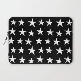 Star Pattern White On Black Laptop Sleeve