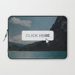 Click Here Button Laptop Sleeve