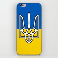 putin iPhone & iPod Skins featuring Ukrainian Sighn by NOT VERY ART