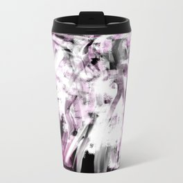 Abstract Angel in Purple, Pink, Black and White Travel Mug