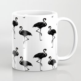 Flamingos Pattern Black and White II Coffee Mug