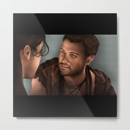 Nagron First Kiss (Agron, Spartacus) Color Version Metal Print