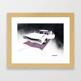 1966 Muscle Car Front End Sketch Framed Art Print