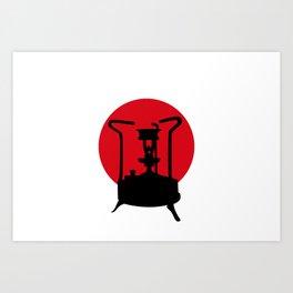 Flag of Japan   Vintage Pressure Stove Art Print