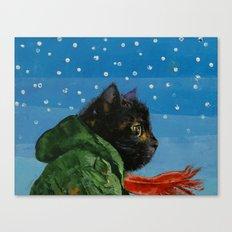 Winter Kitten Canvas Print