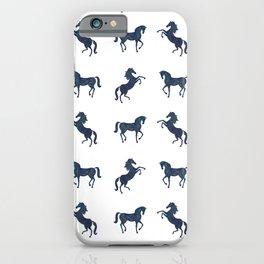 Where the blue horses run iPhone Case