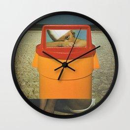 Trash Can Sally Wall Clock