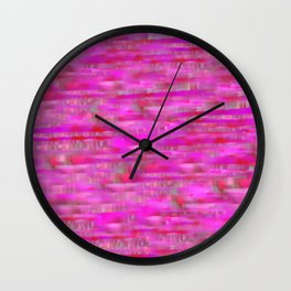 Lines ~ Abstract  Pink Wall Clock