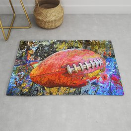Football art print work vs 3 - Football poster artwork Rug