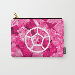Rose Quartz Candy Gem Carry-All Pouch