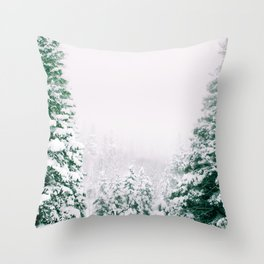 Snow Storm Colorado Throw Pillow