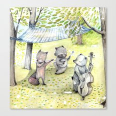 Woodland Band. Canvas Print