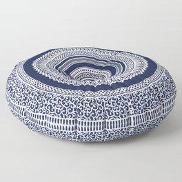 Denim Mandala Floor Pillow