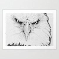 fish eagle Art Print