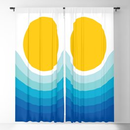 Ocean Canyon Blackout Curtain