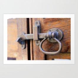 Garden Gate Door Lock Art Print
