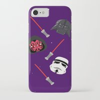 dark side iPhone & iPod Cases featuring dark side by ptero