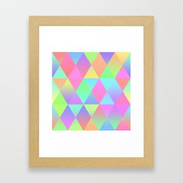 Colorful Geometric Pattern Prism Holographic Foil Triangle Texture Framed Art Print