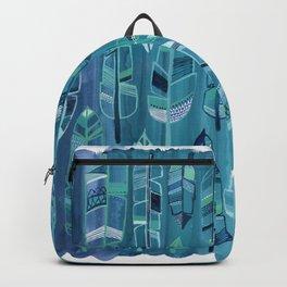 Indigo Feathers Backpack