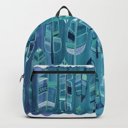 Indigo Feathers Backpack
