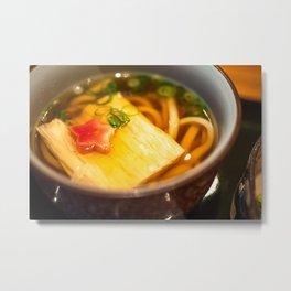 Udon noodle soup served in Kyoto, Japan Metal Print