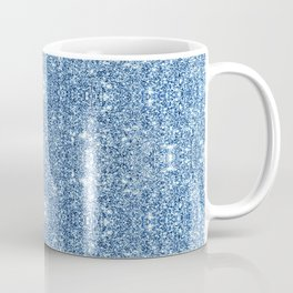 Blue Faux Glitter Shine Effect Texture Sparkle Coffee Mug