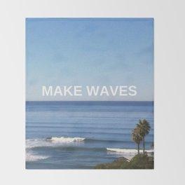 Make Waves Throw Blanket