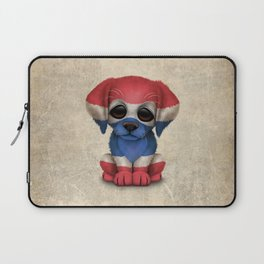 Cute Puppy Dog with flag of Thailand Laptop Sleeve