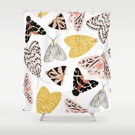 Moth's Diverse Beauty Pattern Shower Curtain