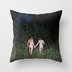 I Went Into The Woods Today II Throw Pillow