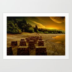 Pillars of the Past Art Print