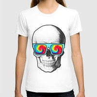 psychadelic T-shirts featuring Psychadelic Skull Tiedye glasses by Chara Chara