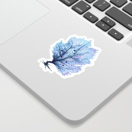 Fan Coral - Blue Sticker