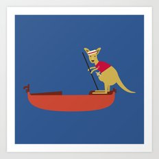 Kangaroo on Gondola Art Print