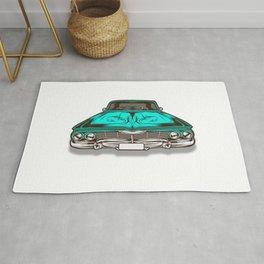 Lowrider Car Vector Rug