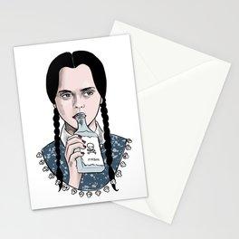 Stay creepy - Wednesday Addams illustration Stationery Cards