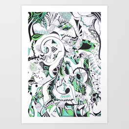 Tripped Out Art Print
