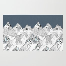 At night in the mountains Rug