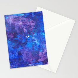 Abstract Painting - Blue Mumbojumbo Stationery Cards